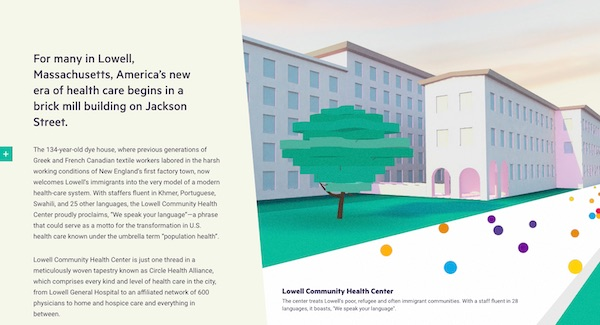 interactive map of Lowell in healthcare pillar