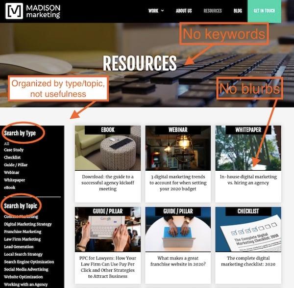 Madison Marketing Group resource page