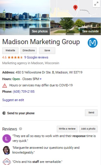 MMG Google My Business Listing